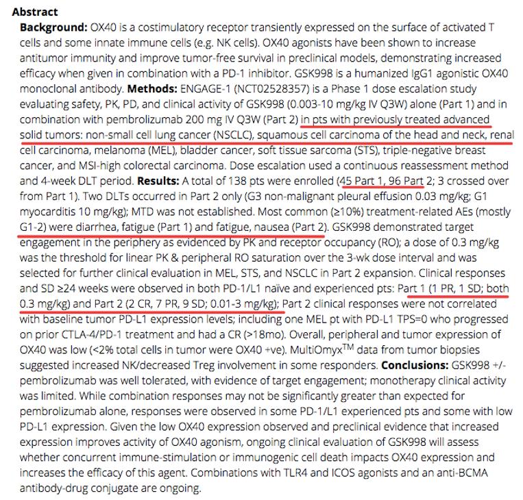 GSK3174998的ENGAGE-1临床数据分享